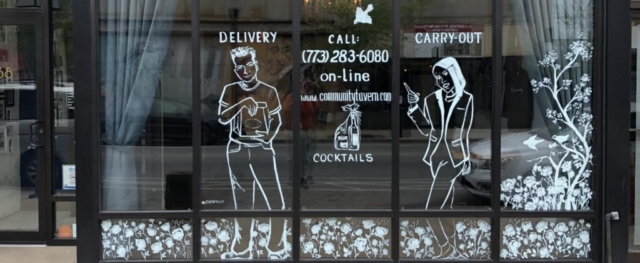 Community Tavern Window